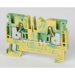 Allen-Bradley 1492-PG4 Terminal Block, Grounding, Yellow/Green, 6.1mm, 600VAC/DC, 26-10AWG