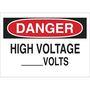 25552 ELECTRICAL HAZARD SIGN