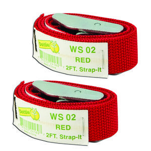Dottie 2WS02 Web Straps w/ Buckle, 2', Nylon, Red, 2-Pack