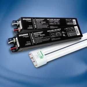 SYLVANIA QHE-2X40DL/UNV-ISN-SC Electronic Ballast, Compact Fluorescent, 2-Lamp, 40W, 120-277V