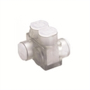 Burndy BITO2/0 Multi-Tap Connector, 2-Port, Clear, Insulated, 14 - 2/0 AWG, 2-Sided