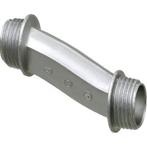 "Arlington 6A9 Nipple, Type: Offset, 3"", Malleable Iron/Zinc Die Cast."