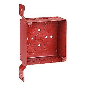 Steel City 52171-CV-1234RD 2-1/8 INDP 4-SQ RED BX W/ CV BRKT