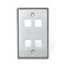 43080-1S4 Q/P STAINLESS PLATE 1 G. 4 P