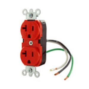 5362-LR RED RECPT DPLX 12GA 6' LEADS