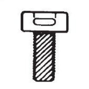 Thomas & Betts TC107 CABLE TIE .4X.6IN NAT SCR MT-#10-32