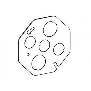 "Orbit Industries CB-BK 4"" Octagonal Concrete Box Cover, 1/2"" & 3/4"" KOs, Metallic"