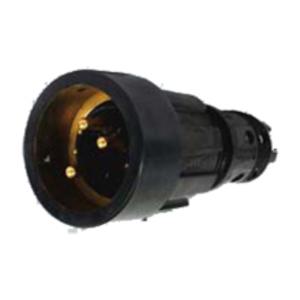 X83462L MALE PLUG QL L W/PILOTS 2/0 BLK