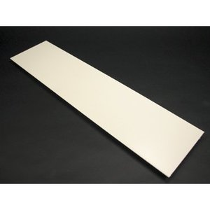 """Wiremold V4000C135 Raceway Cover, Steel, 13-1/2"""" Long, Ivory, For 4000 Series Raceway"""