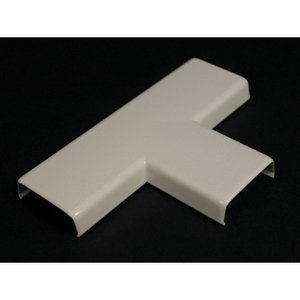"""Wiremold 815-WH Tee Fitting, 800 Series, 4-1/8"""" Length, 2-3/4"""" Width, PVC, White"""