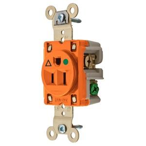 Hubbell-Wiring Kellems IG8210 HUB IG8210 SGL RCPT, IG, HG, 15A