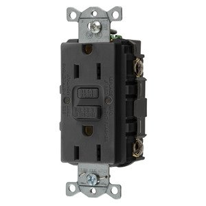 Hubbell-Wiring Kellems GFRST15BK 15A COM SELF TEST GFR BLACK
