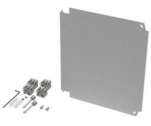 """nVent Hoffman A66PSWPNL Panel, Swing-Out, 6"""" x 6"""", Material/Finish: Aluminum"""