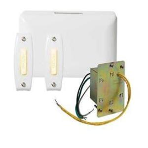 Nutone BK242LWH Wired Chime Kit, Illuminated, 2-Pushbutton