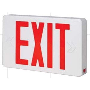 Bizline RX3RWE Exit Sign, LED, Red Letters