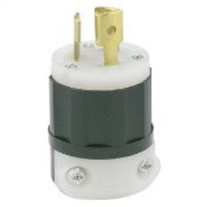 Leviton 4720-C Locking Plug, 15A, 125V, 2P3W