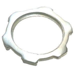 "Cooper Crouse-Hinds 11 Locknut, Size: 1/2"", Material: Steel"