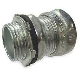 "Hubbell-Raco 2903RT EMT Compression Connector, 3/4"", Raintight, Steel"