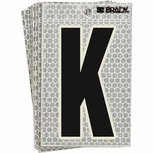 "3020-K BRADY 5"" SELF ADH LETTER K 10/PK"