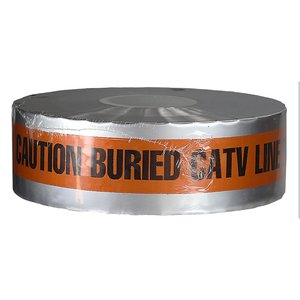 "Dottie DU08  Detectable Tape, ""Caution Buried CATV Line Below"", 3"" X 1000' - Orange"