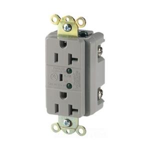 Eaton Wiring Devices 5362VS Recp TVSS 20A 125V 2P3W Led & Alarm IV