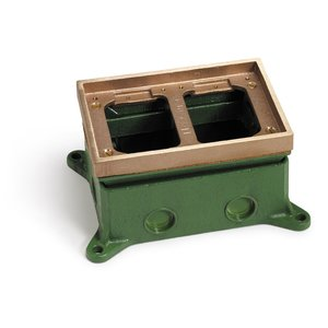 Lew 1102-58 Adjustable Floor Box, Double Gang