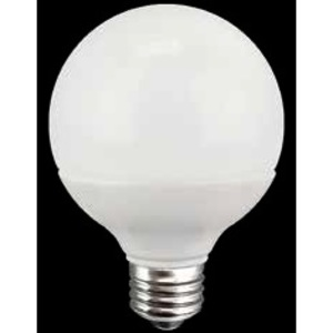 TCP LED8G25D27KF Dimmable LED Lamp, G25, 8W, 120V, Frosted