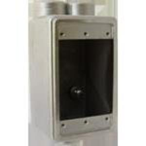 """Calbrite S60700FDCC FS Device Box, Feed-Thru Type, 3/4"""" Hubs, Stainless Steel"""