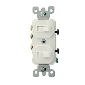 5241-WS WH COMBI 2SW SP/3W 15A120/277VAC