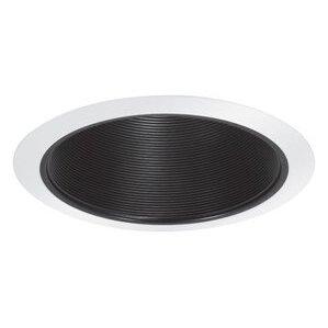 """Elite Lighting B530P-WH Baffle Trim, 5"""", Black Baffle/White Trim"""