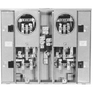 Milbank U2853-X Meter Banks, 3 Position, Vertical, 200A, Bus, 125A Socket, NEMA 3R