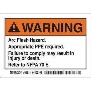 EL-1 ARC FLASH WARNING