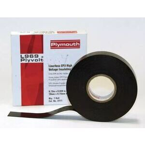 "Plymouth 02213 Linerless High Voltage Insulating Tape, 1-1/2""x.030""x30'"