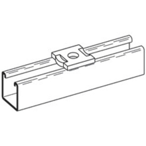 Eaton B-Line B202DZN NO TWIST SQUARE WASHER, 9/16-IN. HOLE, 1/2-IN. BOLT, ZINC PLATED