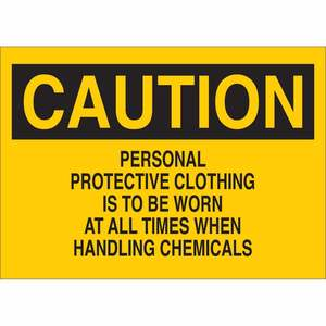 22285 CHEMICAL & HAZARDOUS MATERIAL SIGN
