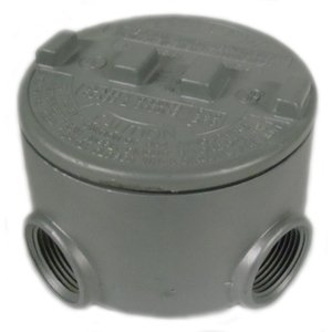 "Appleton GRUE75-A Universal Conduit Outlet Box, Type: GRUE, (5) 3/4"" Hubs, Aluminum"