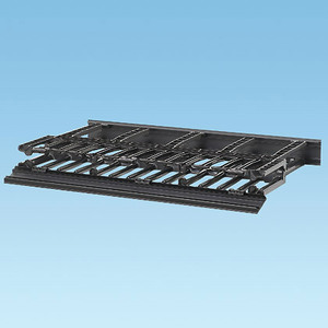 Panduit NM1 Rack, Cable Manager, Horizontal, 1RMU, Front & Rear Access, Black