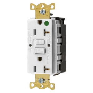 Hubbell-Wiring Kellems GFRST83SNAPW 20A COM HG SELF TEST SNAP GFR WHITE