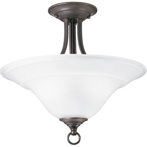 Progress Lighting P3473-20 Close to Ceiling Light, 2-Light, 100W, Antique Bronze