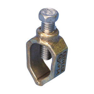 "nVent Erico CP34 Ground Rod Clamp, 3/4"", 8 Solid to 2 Stranded AWG, Bronze"