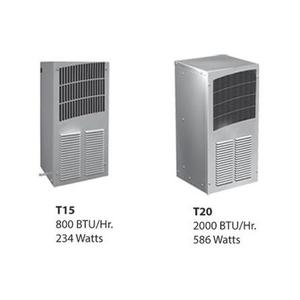 nVent Hoffman T200216G155 Air Conditioner, T-Series, Compact, Outdoor, BTU: 2000, 115V