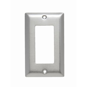 ON-Q SS26 Decora Wallplate, 1-Gang, Stainless Steel
