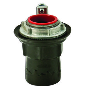 "Plasti-Bond PRSTG1 Conduit Hub With Ground, PVC Coated, 1/2"", PVC Coated Steel"