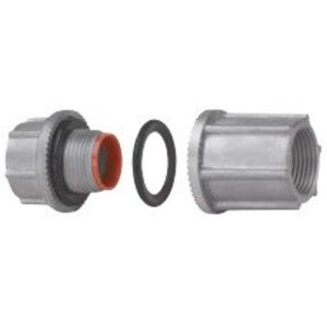"Cooper Crouse-Hinds STTBA3 Through-Bulkhead Fitting, 1"", Insulated, Aluminum"