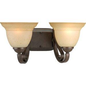 Progress Lighting P2882-77 Bath Light, 2-Light, 100W, Forged Bronze