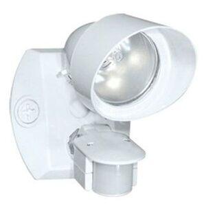 RAB SQB1W Flood Light, w/ Motion Sensor, 75W, 120V, White