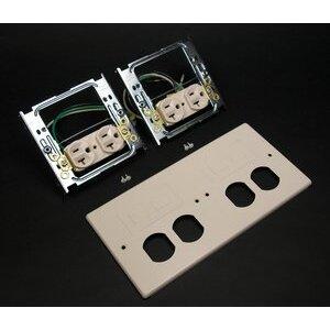 Wiremold V4047-2WWFF 4G DEV PLT 2 DUP INS 2 MOD FURN V