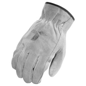 Lift Safety GOR-6YM Operator Gloves, Split Leather, Size Medium