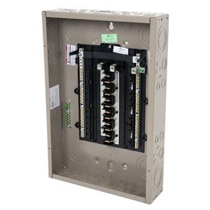 Eaton CHP24L125X2 Load Center, Main Lug, 125A, 120/240V, 1P, 24/48