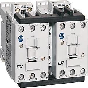 Allen-Bradley 104-C09EJ22 Contactor, Reversing, 9A, 3P, 24VDC, Electronic Coil, 1NO/NC